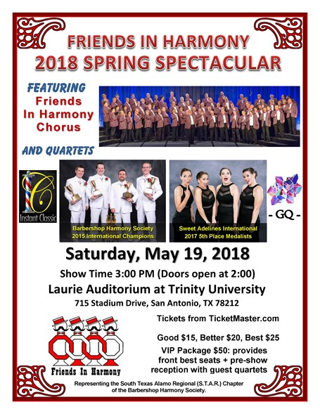 Friends in Harmony 2018 Spring Spectacular