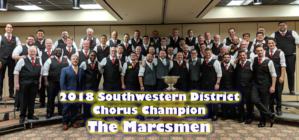 2018 Southwestern District Chorus Champion